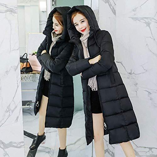 Capucha Escudo Parka Cuello Mujeres Invierno Chaqueta Cálido De Abrigo Casual Señoras Con Acolchado Prendas Las Negro Espesar Outwear Largo ggr6q