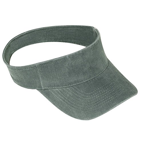 nt Washed Pigment Dyed Cotton Twill OTTO Flex Sun Visor - Dk. Green (Garment Washed Pigment Dyed Twill)