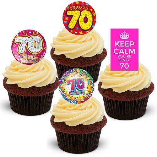 70th cumpleaños hembra, - decoración para tarta para ...