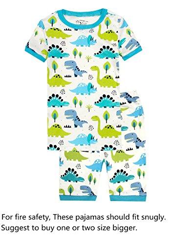Dinosaur Short Pajamas - Dinosaur Boys Pajamas Little Kid Shorts Set 100% Cotton Sleepwear Toddler Pjs 4T