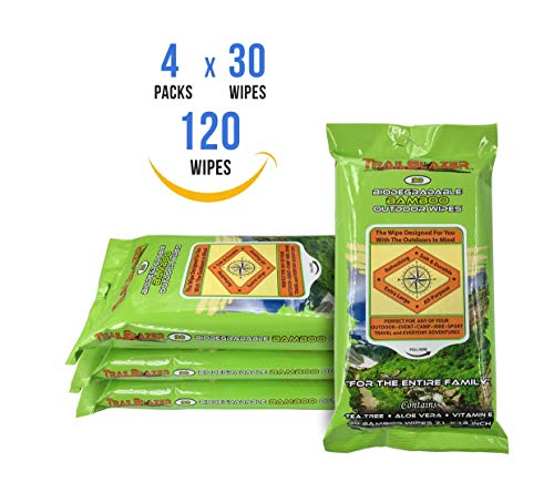 Trailblazer Biodegradable Bamboo Outdoor XL Wipes 30 Ct ()