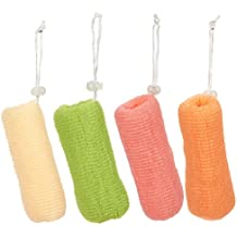 4 Pack Mesh Soap Saver Bags - Exfoliating Soap Pouch Body Loofah Set - For Bath & Shower Use, 4 Assorted Colors, 6.2 x 2 Inches