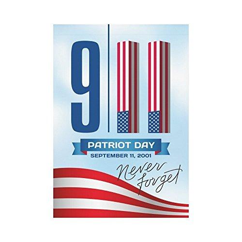 InterestPrint Patriot Day Polyester Garden Flag Outdoor Bann