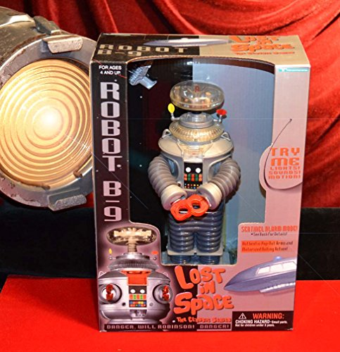LOST IN SPACE ROBOT by Trendmasters, B-9, 1997, MIB, JONATHAN HARRIS Signed AUTOGRAPH COA
