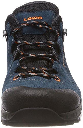 Lowa Arco GTX Lo, Stivali da Escursionismo Alti Uomo Blu (Petrol/Orange 7420)