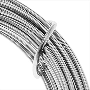 Artistic Wire Aluminum Craft Wire, 12 Gauge Thick, 12 Meter Spool ...