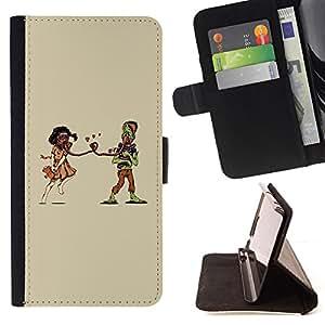 BullDog Case - FOR/Sony Xperia Z2 D6502 / - / Weird Apocaluptic Love /- Monedero de cuero de la PU Llevar cubierta de la caja con el ID Credit Card Slots Flip funda de cuer