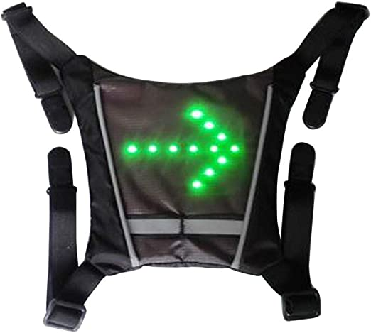 TXYFYP LED Intermitente Chaleco Reflectante, Bicicleta Impermeable ...