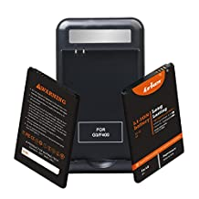 LG G3 Battery: Lrker LG G3 Battery Kit[2*Batteries+1*Charger]2*Spare Li-Ion Extended Batteries BL-53YH Combo with Specialized Intelligent USB Home Travel Wall Spare Battery Charger(2*B+1*C)