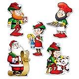 Beistle Mini Santa and Elves Cutouts, 5.5 (30-Pack)