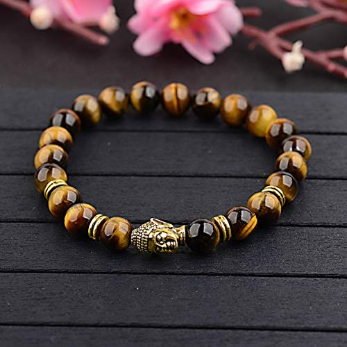 Florance jones Hot Men Women 8mm Lava Rock Chakra Beads Elastic Natural Stone Agate Bracelets | Model BRCLT - 34004 |