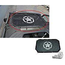 InnoLife Full Cover Mesh Shade Top Sunshade UV Protection for 07-16 Jeep Wrangler JK 2 Door (Black)