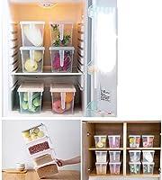 LiChenYao Refrigerador Caja de Almacenamiento Transparente Caja ...