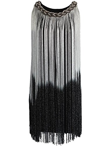 KAYAMIYA Women's 1920s Gatsby Tassel Draping Fringe Flapper Cocktail Dress XS/S (Gatsby Dresses For Sale)