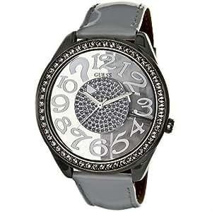 Guess W11143L2 - Reloj analógico de cuarzo para mujer con correa de piel, color blanco