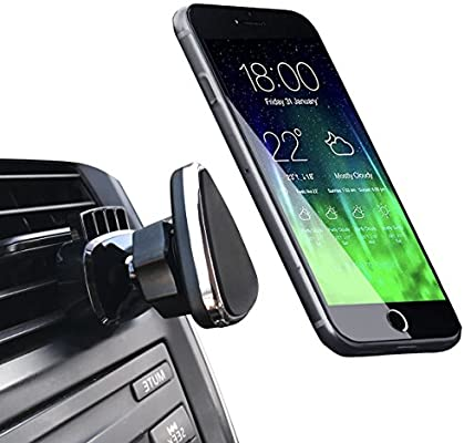 One-Touch Design//360 Rotation Car Phone Holder for iPhone X//8//8Plus//7//7Plus//6s//6Plus//5s,Galaxy S5//S6//S7//S8,Google LG Huawei etc Amanki AMK-CMTCL-01-2 Car Phone Mount,U-good Air Vent Phone Holder for Car with Kickstand