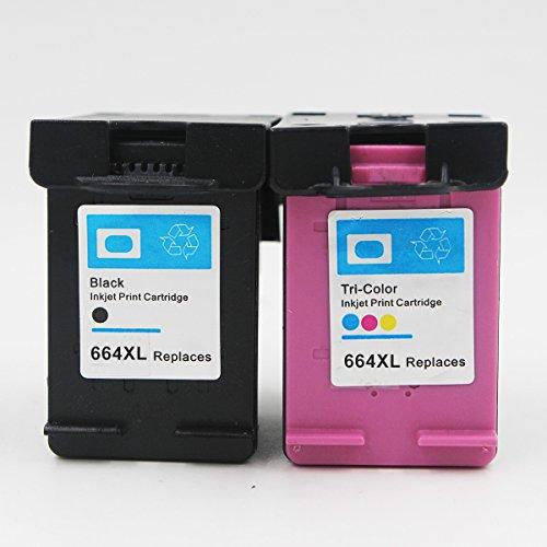 Compatible For HP 664XL BlackColor Ink Cartridge Show Ink Deskjet 1115 2136 3636
