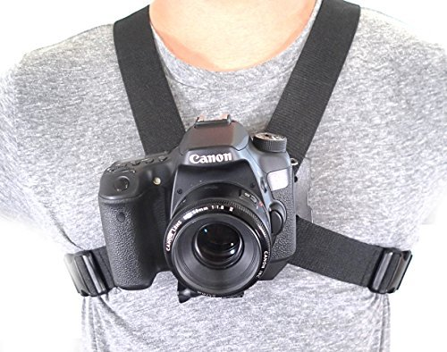 DSLR Chest Mount Harness for all Digital Cameras compatible with all major brands Sony Canon 60D 70D T3 - 4 - 5i series 100% universal
