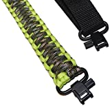 Crossbow for Women - Estobi Outfitters Rifle Sling 550 Paracord - 2 Point Adjustable Gun Strap W/ Metal Swivels - Rifle Shotgun Crossbow - Hunting Shooting