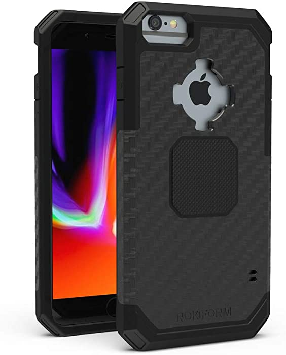 Rokform - iPhone 8/7/6/6s Plus Magnetic Case with Twist Lock, Military Grade Rugged iPhone Case Series (Black)