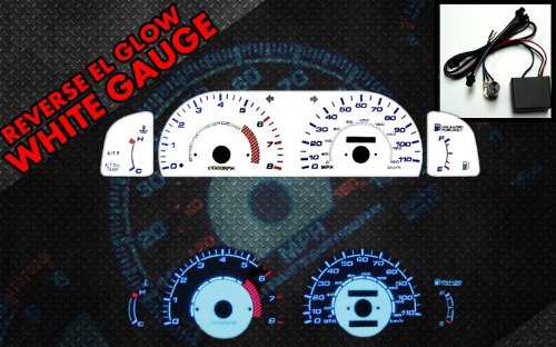 Brand New White Face Blue Indigo Reverse Glow Gauges For 95-99 Toyota Tacoma (I-149)