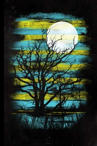 Full Moon Tree Journal: Halloween Full Moon Tree Silhouette | 128 College Ruled Pages: 6 x 9 in Blank Lined Journal with Soft Matte Cover | Notebook, ... school, students, homeschool and teachers