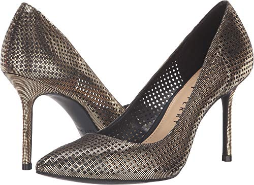 Katy Perry Women's The Sissy Pump, Black/Gold, 10 M M - Gold Multi Heels