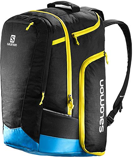Salomon Extend Go-to-Snow Backpack Black/Process/Yellow Mens Sz 50L