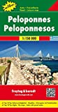 Peloponnese (Road and Leisure Time Map)