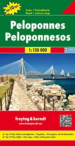 Peloponnese (Road and Leisure Time Map) (Greece Map)