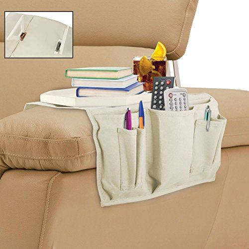KOVOT Wooden Clasp Couch Tray Table And Organizer