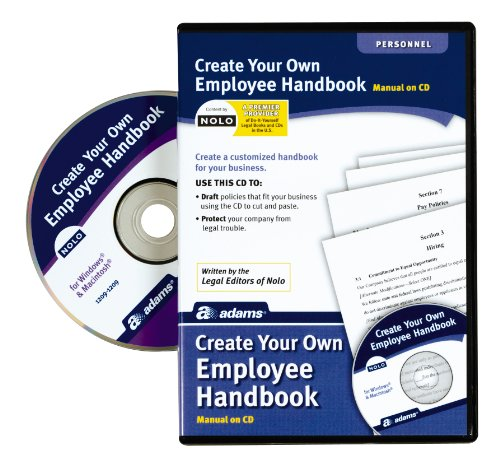 Personnel Forms Software - Adams Create Your Own Employee Handbook, Forms on CD (SS4324)
