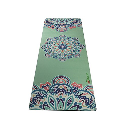 Aozora Reversible Eco-Friendly Non-slip Combo Yoga Mat, Green