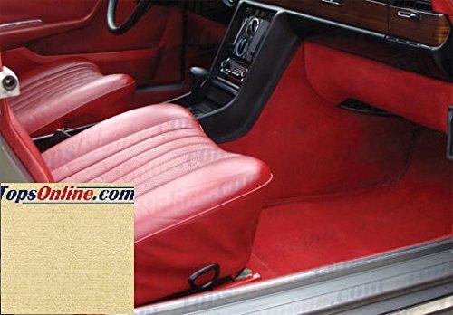 Velour Upholstery Kit (1972 thru 1980 Mercedes 280S SE SEL, 350SE SEL, 450SE SEL & 6.9 (W116 Chassis) Replacement Carpet Kit, Left Hand Drive Model--Original Mercedes German Velour Carpet (Cream))