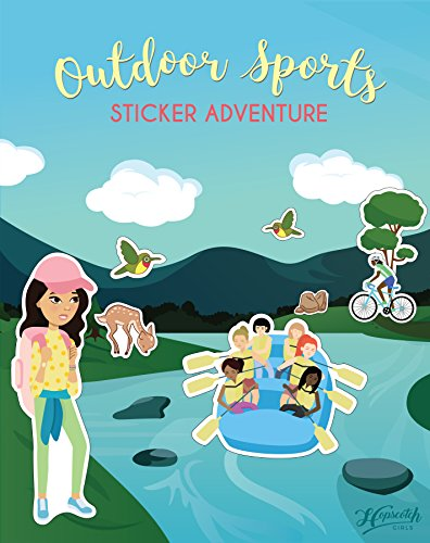 Outdoor Sports Sticker Book for Girls Ages 4-8