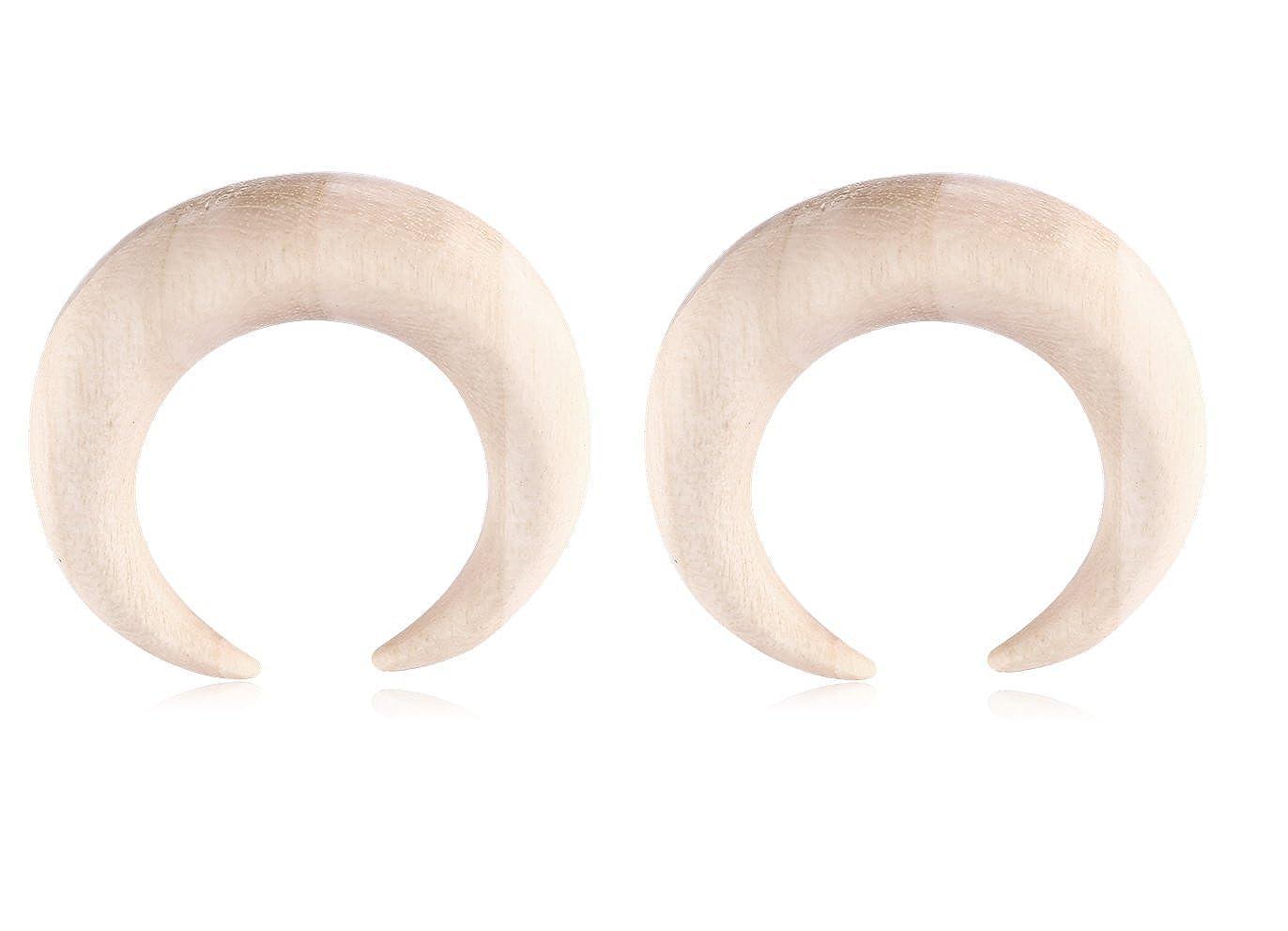 Amazon com: Holy Plug Body Piercing Jewelry Pair of 2 Wood