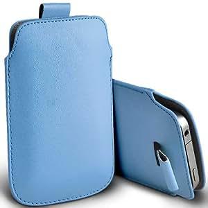 ONX3 Huawei Ascend y300 Leather Slip cuerda del tirón de la PU de protección en la bolsa de la liberación rápida (Baby Blue)
