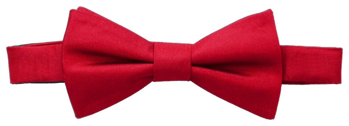 Tommy Hilfiger Men's Core Solid Bow Tie, Red, One Size
