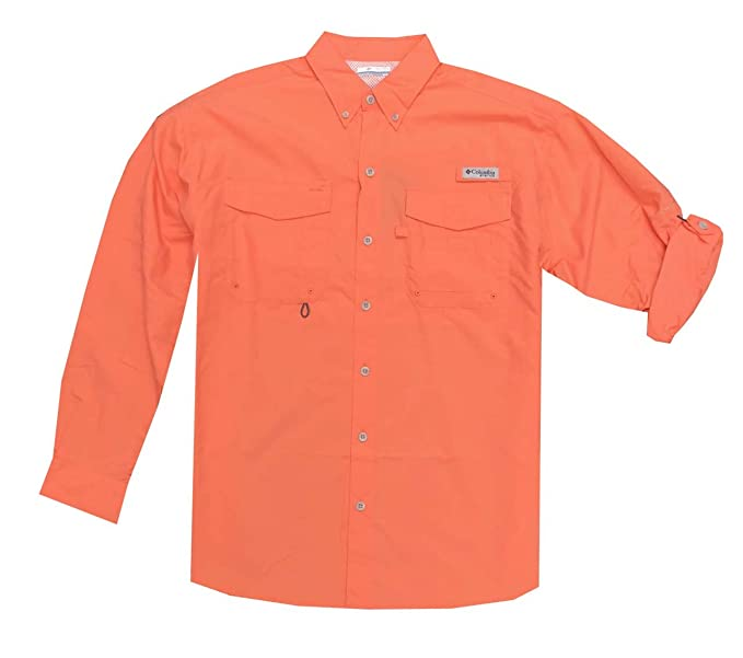 cae72bc12d1 Columbia Men's PFG Omni-Shade UPF 30 Distant Water Convertible Sleeve Shirt  (S,