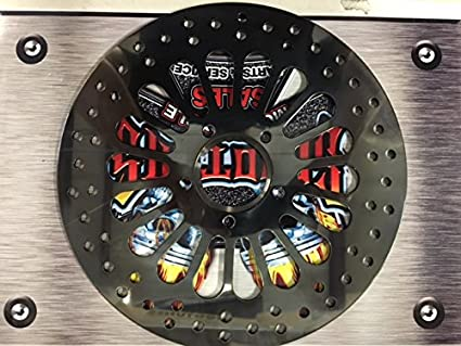 11 5 Black super spoke front brake rotor for Harley davidson's