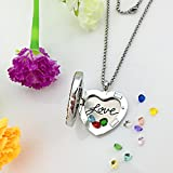 Love Heart Locket Necklace that Holds Pictures