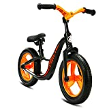 HAPTOO Balance Bike, Kid Glide Bike 12 inch [Ages 1.5 to 6 Years] No Pedal [Foldable Handlebars] Lightweight Outdoor Sport Walking Training Bicycle for Girls Boys Toddler