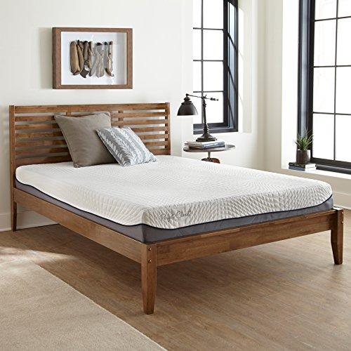 Elegance Memory Foam Mattress by Perfect Cloud (Queen) - 12-inches Tall - Features Luxurious Fabrics and Double Layer of Visco-Gel Cool Design for All-Night Comfort
