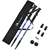 MOON LENCE Adjustable Trekking Poles Lightweight Telescopic Walking Sticks Ultralight Collapsible Climbing Hiking Poles for Mountaining Backpacking 2-pc/Pack