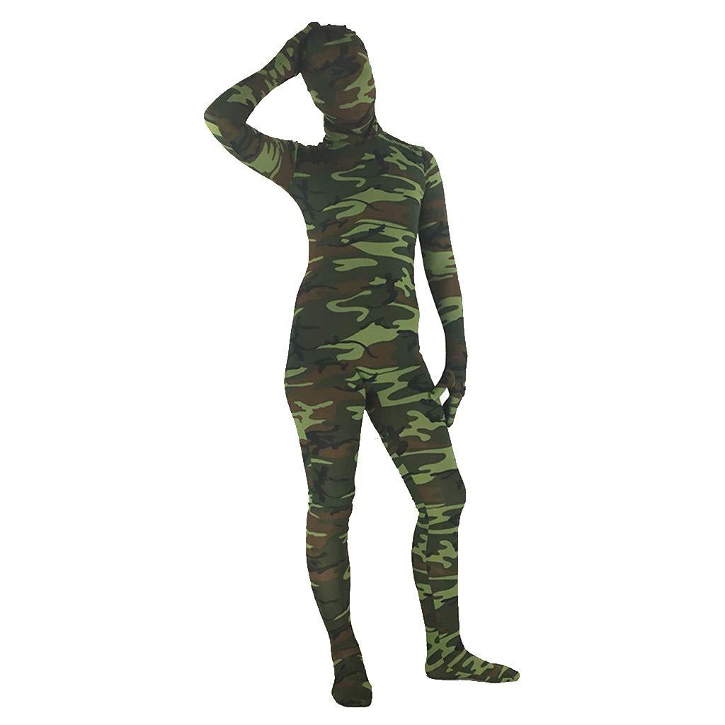 presentando toda la última moda de la calle verde Medium Disfraz de Halloween Halloween Halloween para Adultos Disfraz de Lycra CosJugar Anime de Camuflaje,verde-M  selección larga