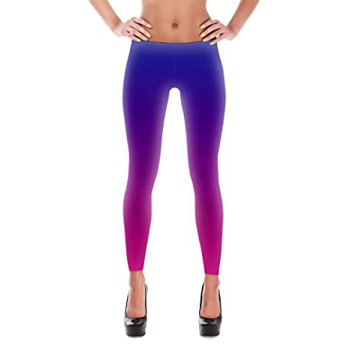 d08521099614d Image Unavailable. Image not available for. Color: Blue and Pink Ombre  Leggings