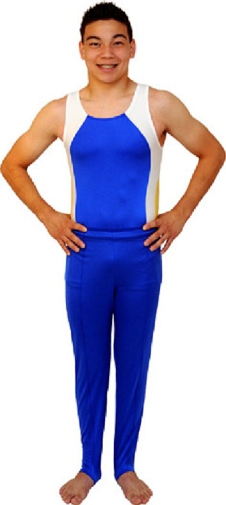Snowflake Designs Royal Blue Boys and Mens Gymnastics Stirrup Pants(Child Small) by Snowflake Designs