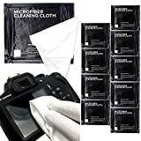 SANHOOII 9X9 inch Microfiber Camera Lens Cleaning Cloth, 9 Pack DSLR Camera Cleaning kit