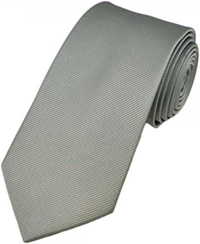 Cravatta realizzata a mano Cravatta slim argento 100/% seta Cravatta uomo grigio chiaro Pietro Baldini Cravatta uomo