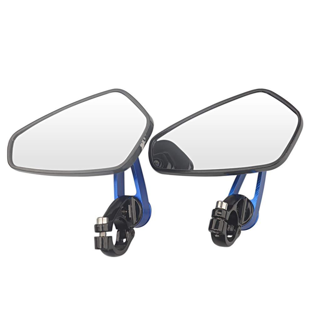 evomosa Universal Motorbike Bike Handlebar Rear View Mirrors Motorcycle Aluminum 7//8 22mm Bar End Side Rearview Mirror(orange)
